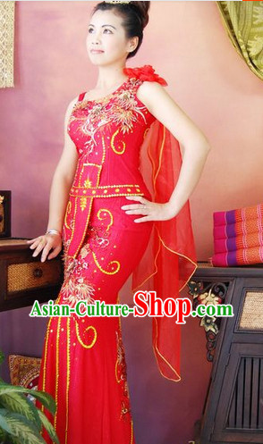 Southeast Asia Traditional Thailand Wedding Outfits for Women
