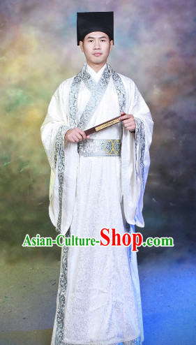 Chinese Traditional Clothes and Hat for Men