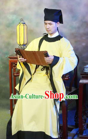 Chinese Traditional Dress and Hat for Men