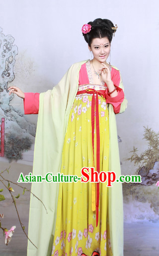 Chinese Tang Dynasty Traditional Suit for Women