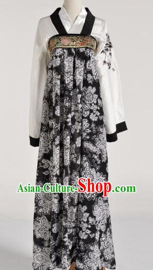 Chinese Black Tang Skirt for Women