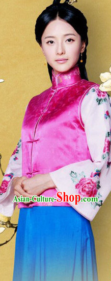 Traditional Chinese Mandarin Embroidered Clothing for Girls