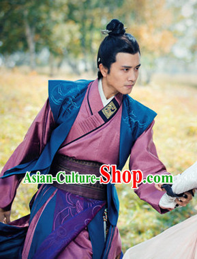 Ancient Chinese Lanling King Costumes Complete Set