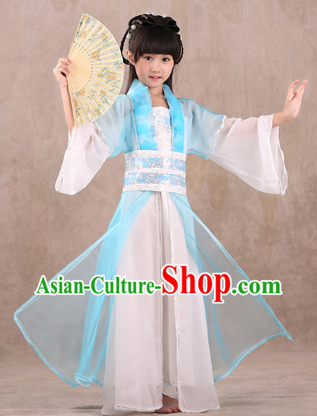 Professional Classical Hanfu Dance Studio Costumes for Children