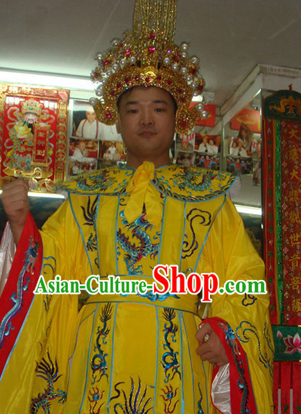 Professional Stage Emperor Costumes and Crown