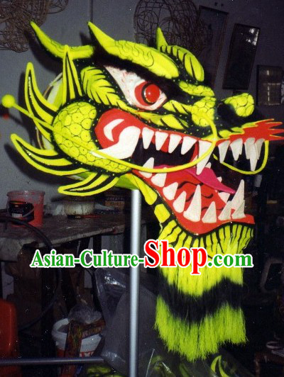 Top Glow in Dark Luminous Dragon Dance Head and Body Costumes Complete Set