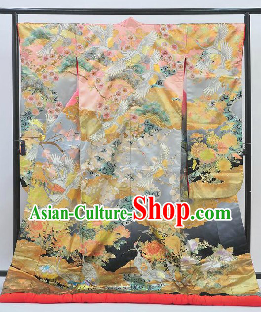 Ancient Japanese Princess Kimono Set for Women