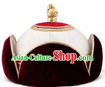 Traditional Chinese Mongolian Princess Hat for Women