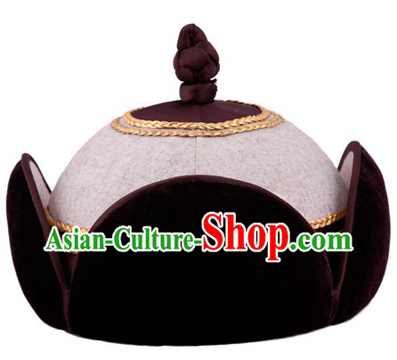 Traditional Chinese Handmade Mongolian Princess Hat for Women