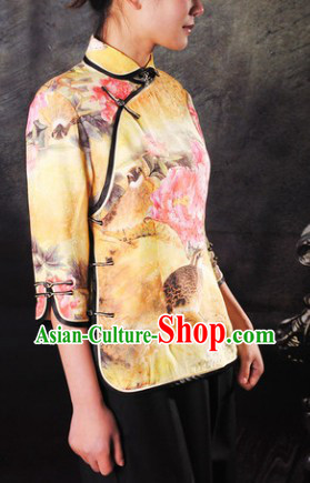Traditional Chinese Silk Minguo Lady Clothes