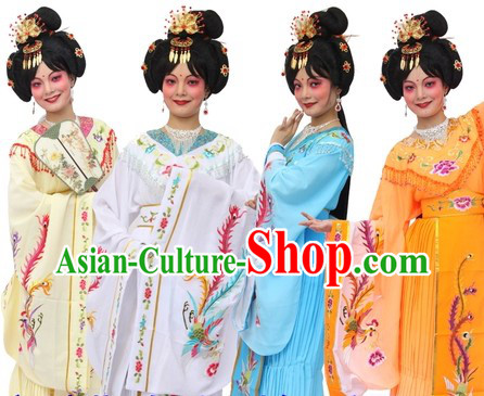 Traditional Chinese Imperial Palace Empress Phoenix Costumes and Hair Accessories