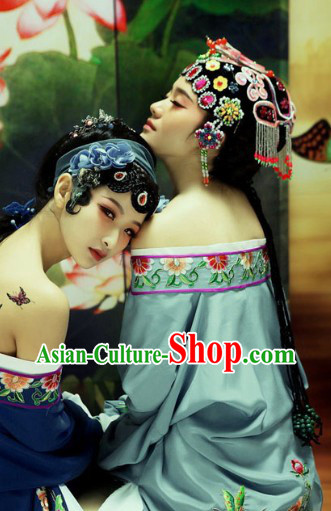 Ancient Chinese Long Sleeves Grey Color Costumes Robe