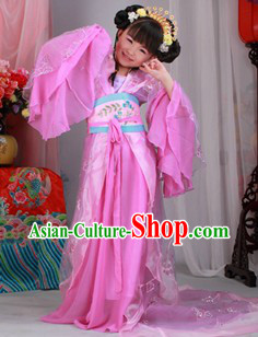 Ancient Chinese Princess Costumes and Headwear for Kids