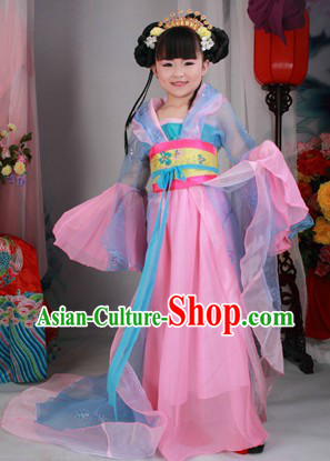 Ancient Chinese Princess Costumes and Headwear for Children