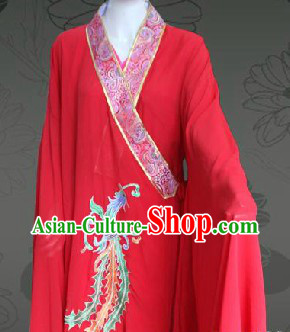 Traditional Chinese Red Wedding Phoenix Robe for Women
