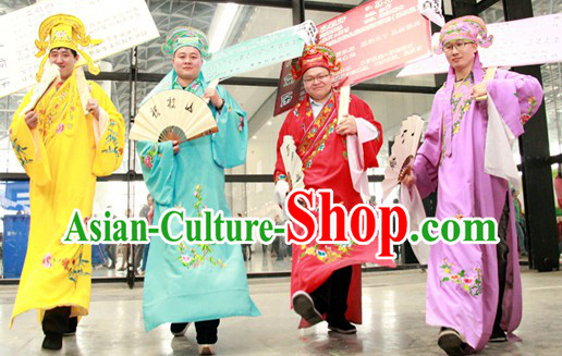 Stage Performance Use Xiao Sheng Dance Costumes and Hat for Men