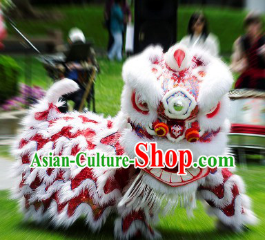 Top Red Handmade Fut San Lion Dance Costume Complete Set