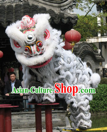 Championshiop Competition Chinese Lion Dance Costumes Full Set