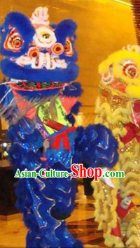 Blue Lion Dancing Costume Complete Set for Display and Play