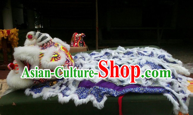 Supreme Chinese Lion Dancing Costume Complete Set for Display and Collection