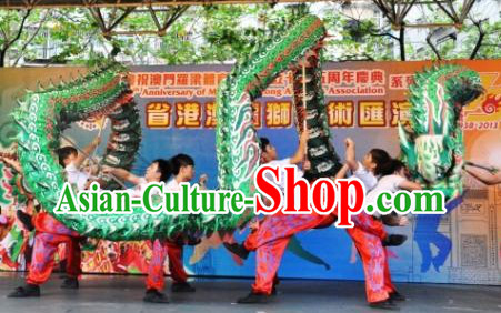 Top Green Luminous Dragon Dance Costume Full Set