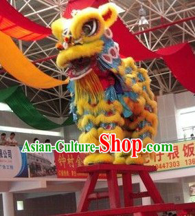 Folk Chinese Lion Dancing Costume Complete Set for Display and Collection