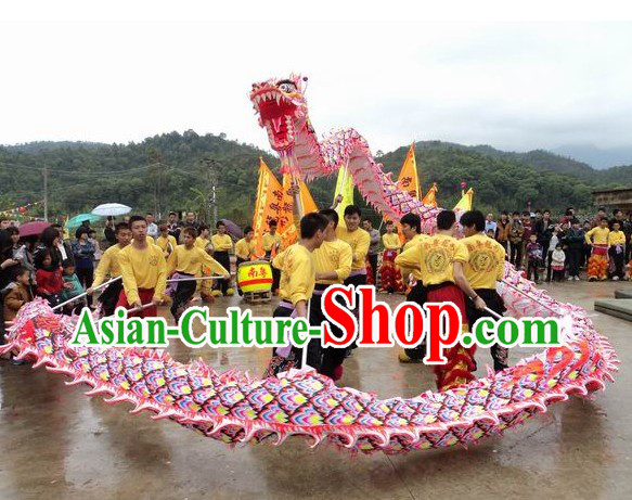 Standard Chinese Luminous Dragon Dance Costume Full Set