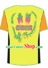 Professional Stage Performance Dragon Dance Group Dance T-shirt