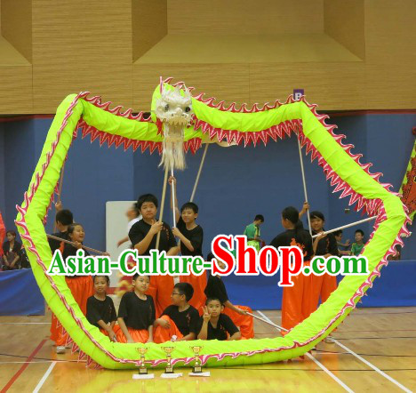 Primary School Kids Illuminated Dragon Dance Equipment Complete Set