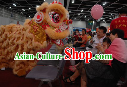 Traditional Competition and Parade Lion Dance Costume Complete Set