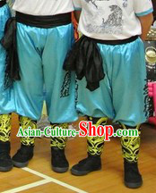 Light Blue Professional Dragon Dancer Pants and Kung Fu Belt