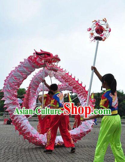 Kids Size Luminous Dragon Dance Costumes Complete Set