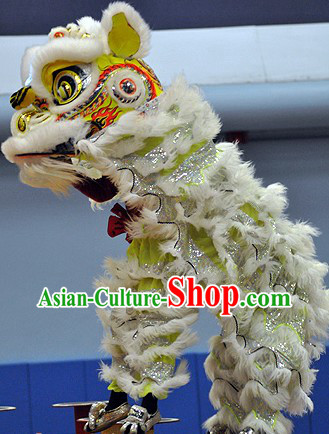 Hand Made and Painted Young Lion Dance Head and Costume Complete Set