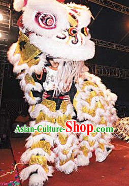 Hong Kong Style Hok San Lion Dance Costume Complete Set