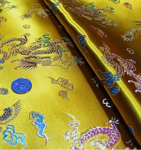 Traditional Chinese Dragon Phoenix Brocade Fabric