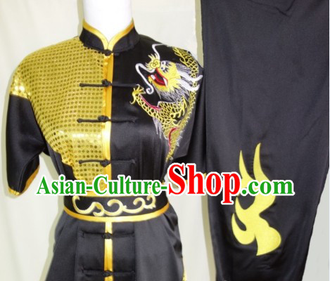 Top Silk Broadcloth Kung Fu Championship Dragon Dancer Uniform