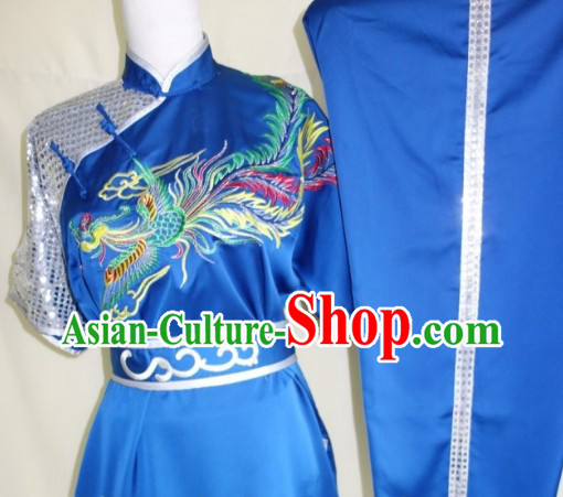 Professional Competition and Performance Silk Martial Arts Uniforms for Adults or Children
