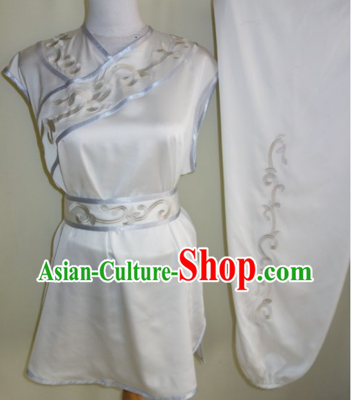 Professional Kung Fu Fist Martial Arts Practice Silk Uniform Complete Set for Women