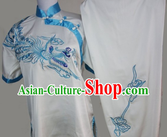 Traditional Kung Fu Silk Uniform White