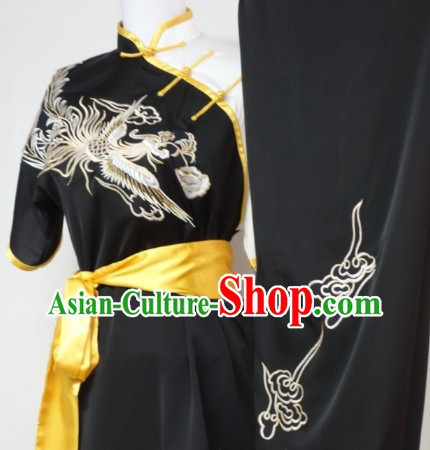 Asian Silk Embroidery Wushu Dress Martial Arts Clothes