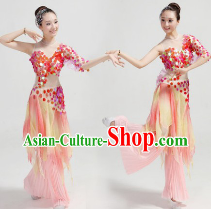 Classical Fish Dance Costumes and Pants Complete Set for Women