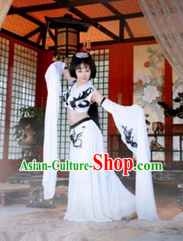 Long Sleeve White Palace Dance Costumes for Women