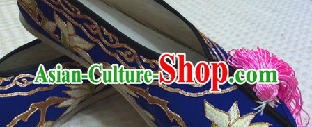 Chinese Opera Lotus Embroidery Shoes