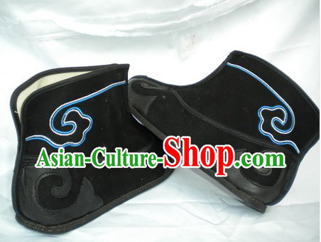 Black Chinese Classical Auspicious Cloud Black Boots