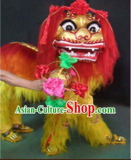 Traditional Chinese Beijing Lion Dance Equipment and Playing Ball Complete Set