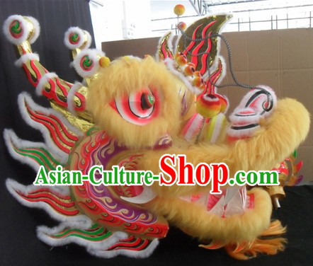 Best Handmade Long Wool Dragon Dance Costumes Complete Set