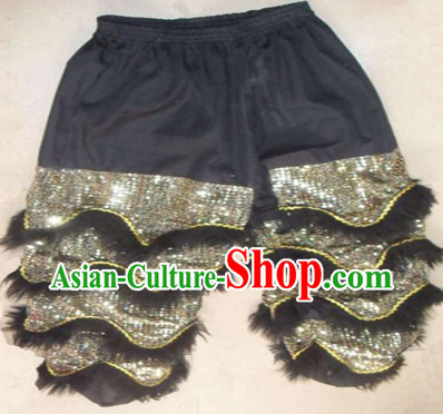 Black Chinese Lion Dance Pants