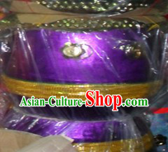 Handmade 22 Inches Purple Lion Dance Drum