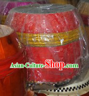 Traditional Handmade Red Dragon Dance and Lion Dance Drum