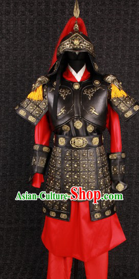 Ancient Chinese Hua Mulan Female General Armor Costumes and Helmet for Women